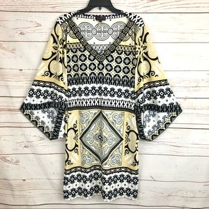 Hale Bob Winged Dolman Beaded Moroccan Dress